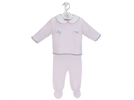 Baby Pink Two Piece Spanish Leggings Set